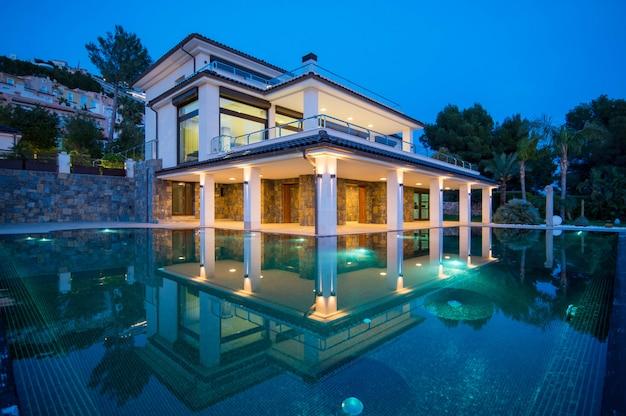 Spanish real estate of mediterranean seashore