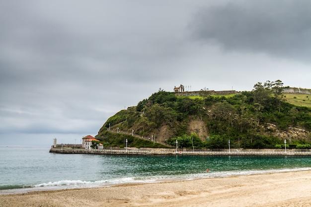 Spanish seaside hill