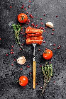 Spanish sliced chorizo sausage