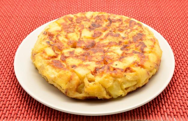 Омлет из испанской тортильи с картофелем и луком