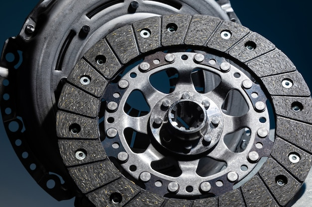 Spare part - clutch plate against black background