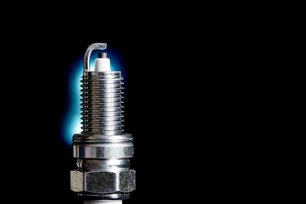 Spark plug for internal combustion engine.сopy space.