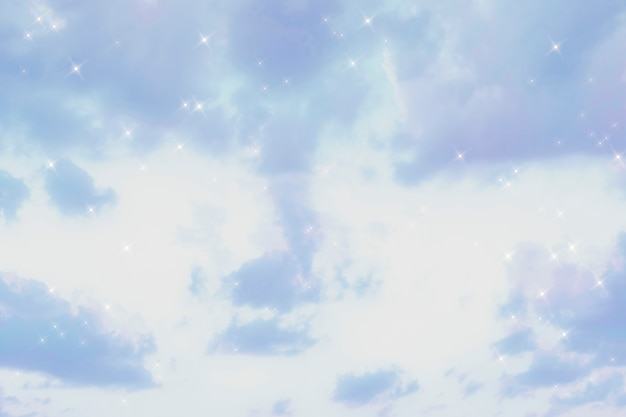 きらめく雲水色の夢のような背景