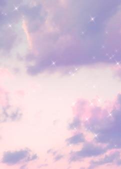 Сверкающее облако пастельных фиолетовых изображений