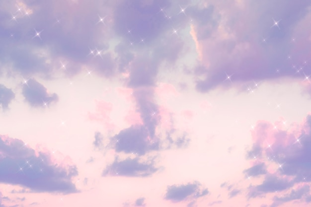 스파클 구름 파스텔 퍼플 이미지