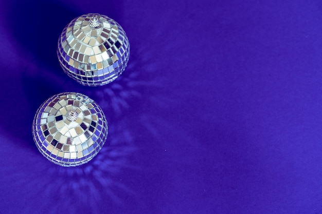 Sparkling disco ball in a day light.
