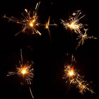 Sparkling flares set