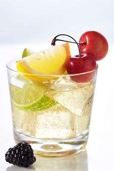 Sparkling fruit cocktail