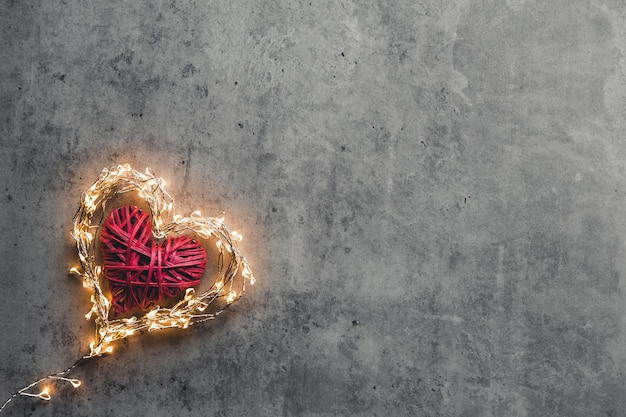 A sparkling heart. valentine's day. card valentine
