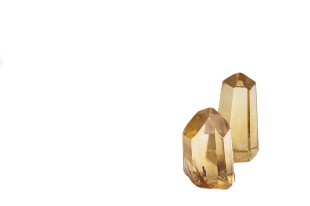Sparkling quartz crystals isolated