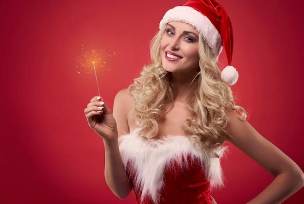 Le scintille rendono il periodo natalizio più sorprendente