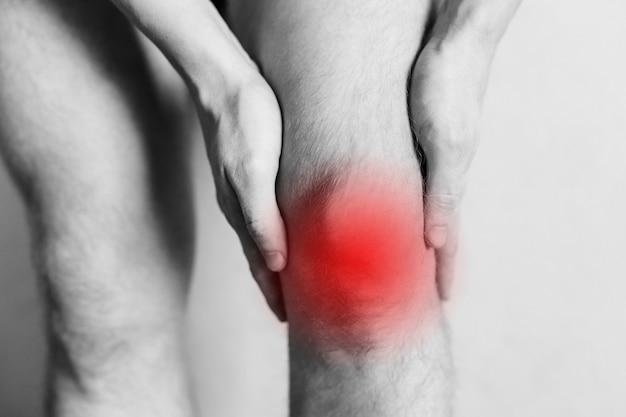 男性の膝のけいれん関節の怪我職場での倦怠感怪我の領域