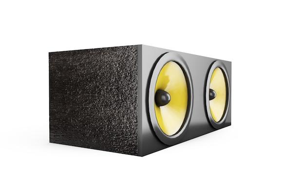 Колонка аудиосистемы колонки звукового ящика. 3d рендеринг