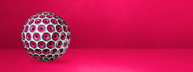 분홍색에 고립 된 스피커 구입니다. 3d 일러스트레이션
