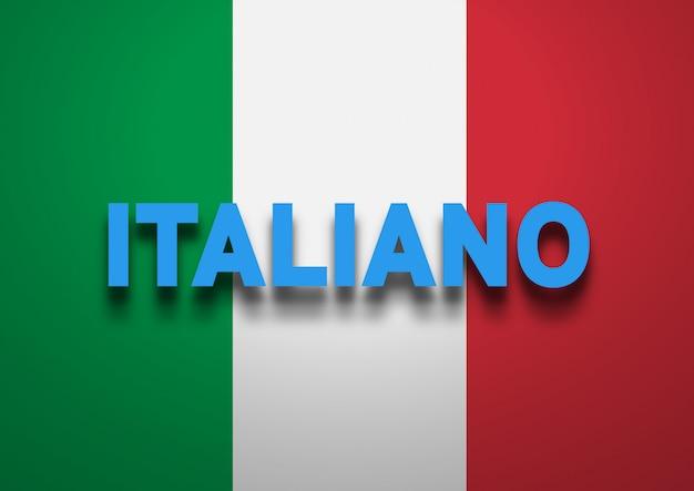 Speaking italian background