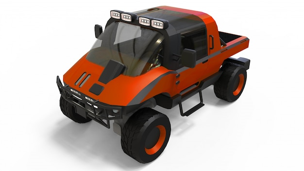 Special all-terrain vehicle for difficult terrain and difficult road and weather conditions
