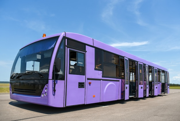 A special bus for delivering passengers from the pier to the plane.