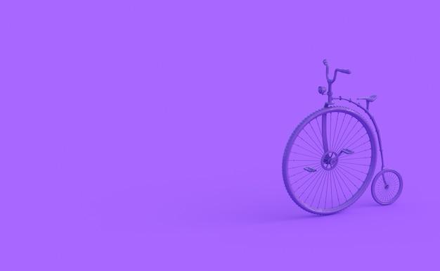 紫色の特別なサイクルの3dレンダリング