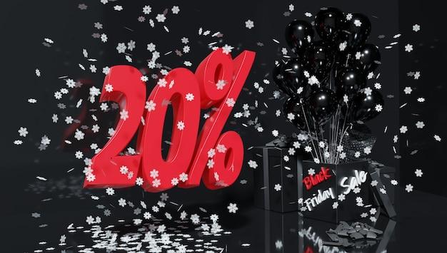 ブラックフライデーの休日の特別割引。販売とショッピング。 3dレンダリング。