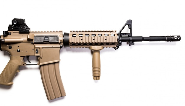 Special forces carbine isolated on a white
