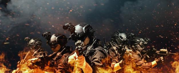 特殊部隊の兵士警察、swatチームメンバー