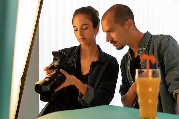 Special product photography studio with workers