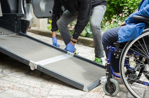 장애인을위한 특별 수송