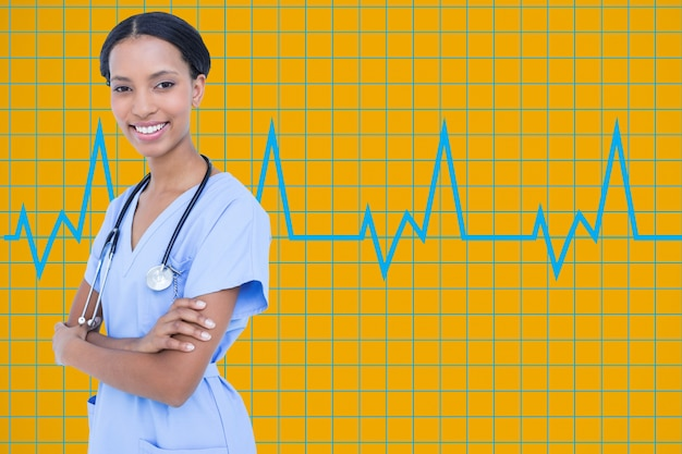 Специалист науки анализирующая больницы белом фоне