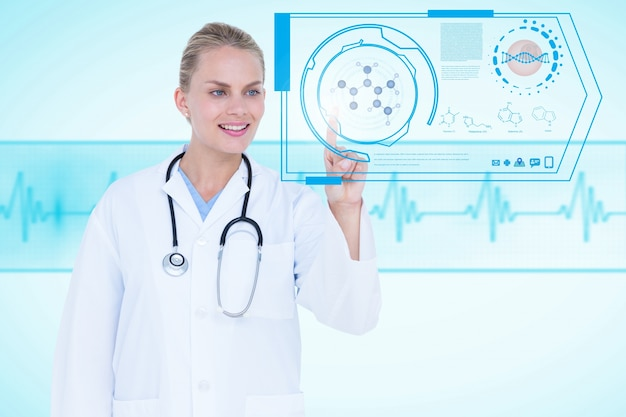 Specialist working with medical application