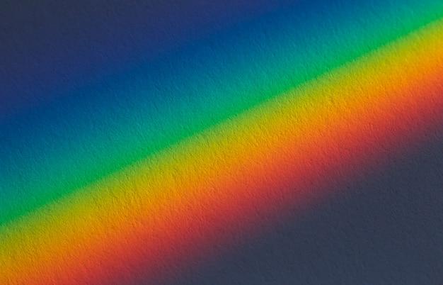 프리즘을 통해 들어오는 햇빛의 스펙트럼 그라데이션.