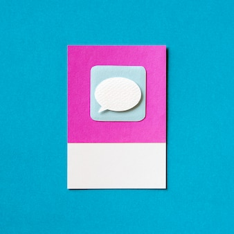 Speech bubble chat icon illustration