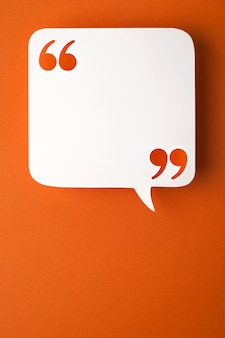 Speech bubble on orange