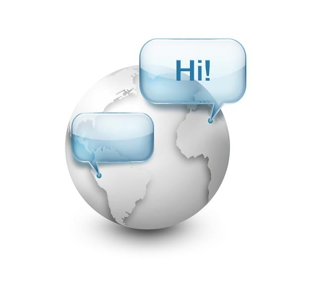 Речевой пузырь над миром