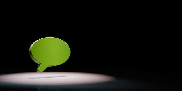 Speech bubble shape in the spotlight isolated