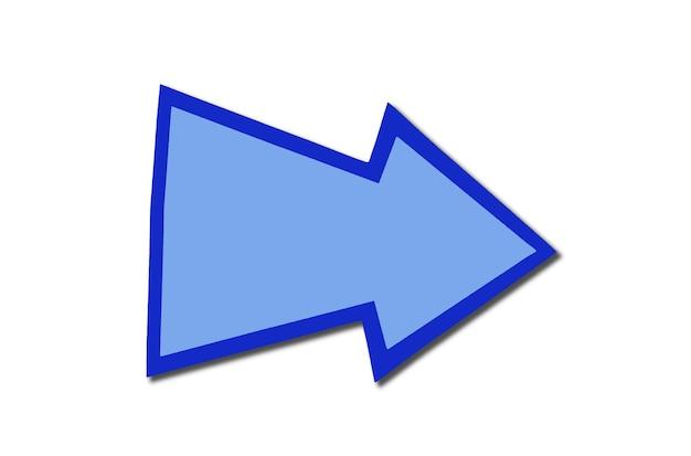 Речи пузырь знак в виде синей стрелки вправо изолированы Premium Фотографии