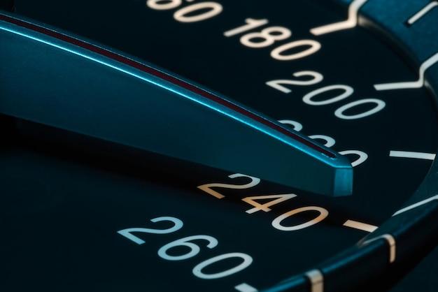 Speed detail with car odometer macro shot