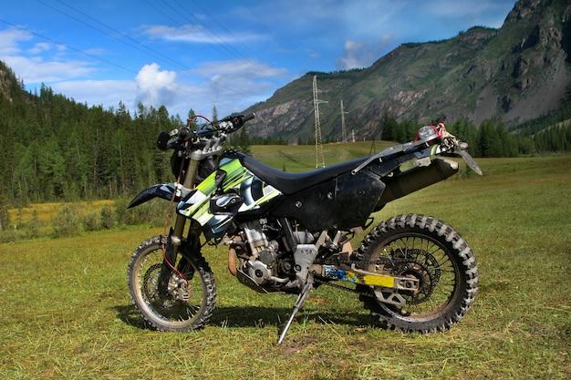 Speed mountain bike in the altai mountains