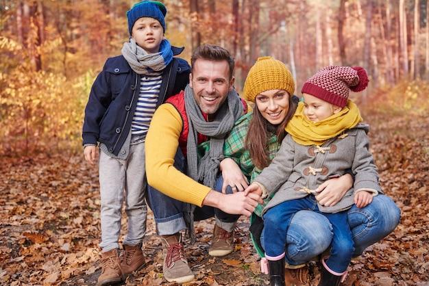 家族と一緒に新鮮な空気に時間を費やす