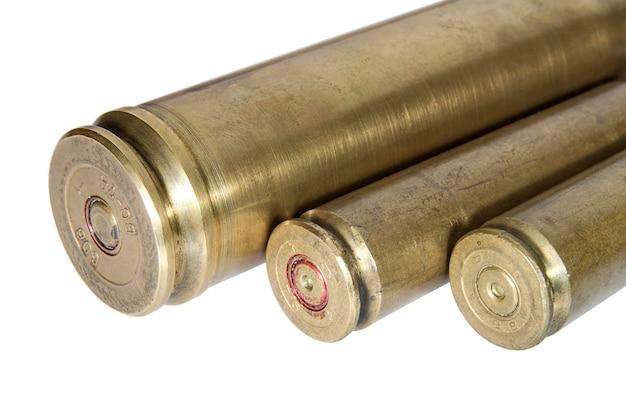 大口径の武器からの使用済みカートリッジ