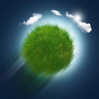 草や雲の球