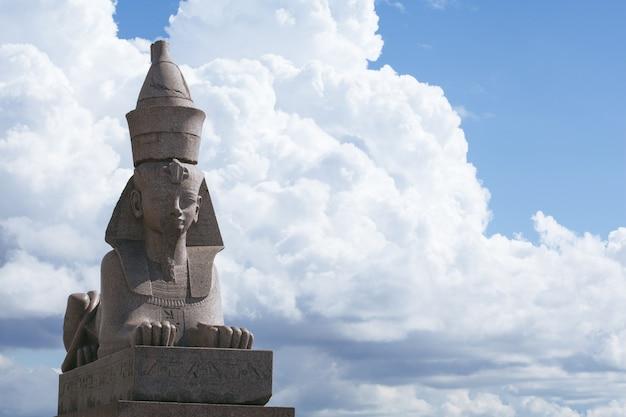 Sphinx statue in saint petersburg in russia