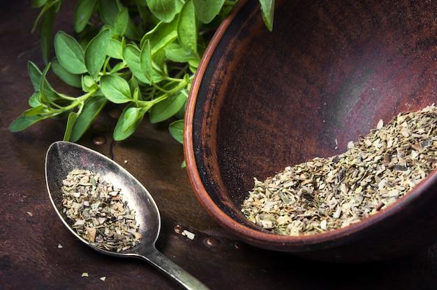 Spice oregano herb