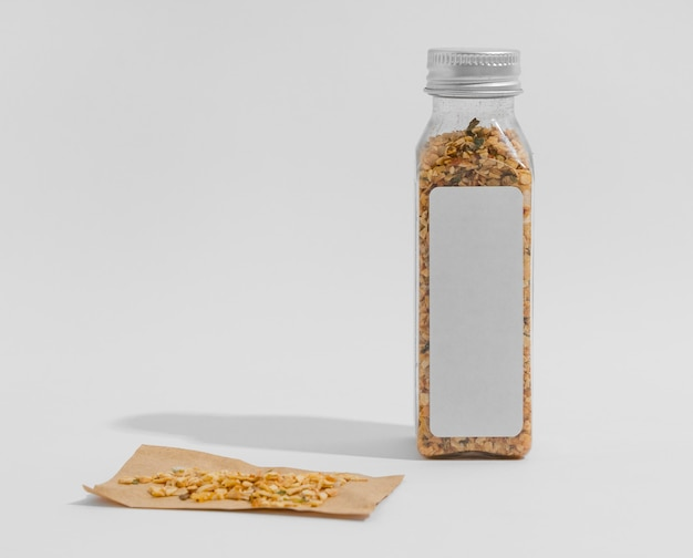 Spice with label with copy space