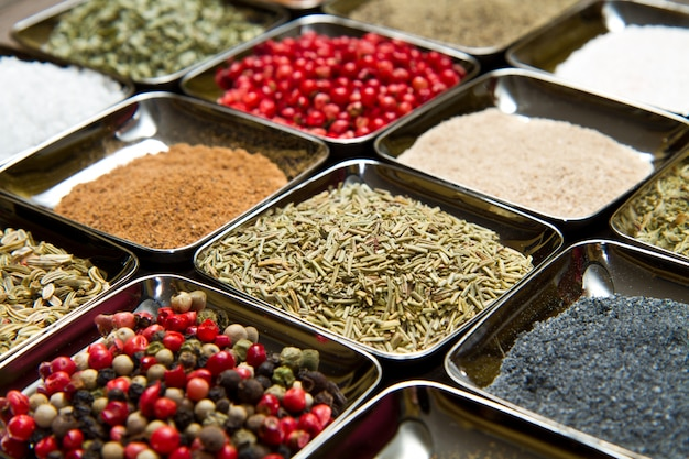 Spices in  box