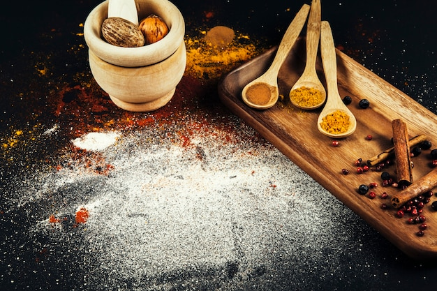 Spices composition with salt