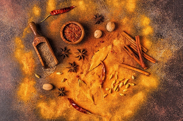 Spices ingredients for cooking