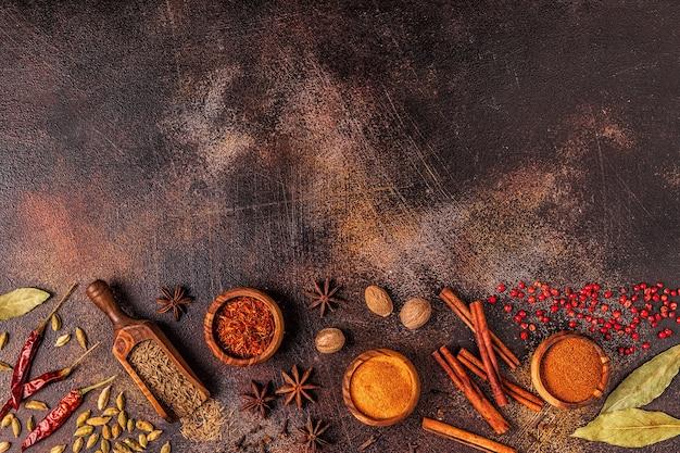 料理用のスパイス材料
