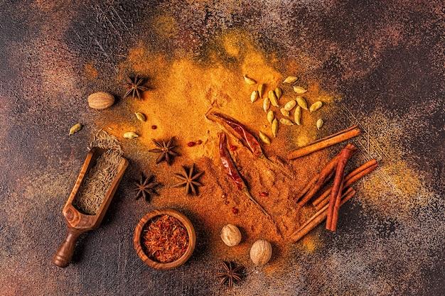 Ингредиенты специй для приготовления