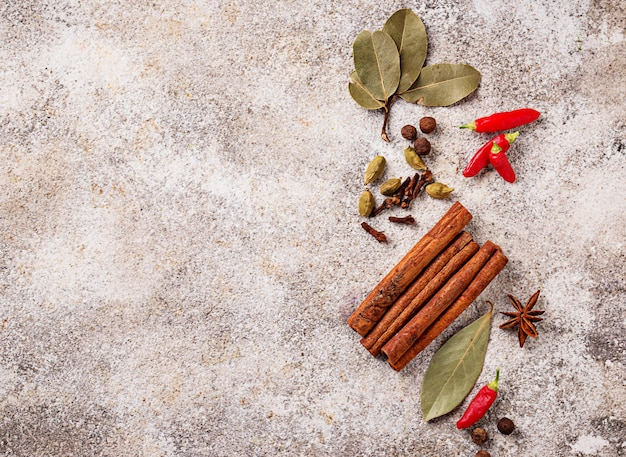 Spices masala for cooking indian dishes