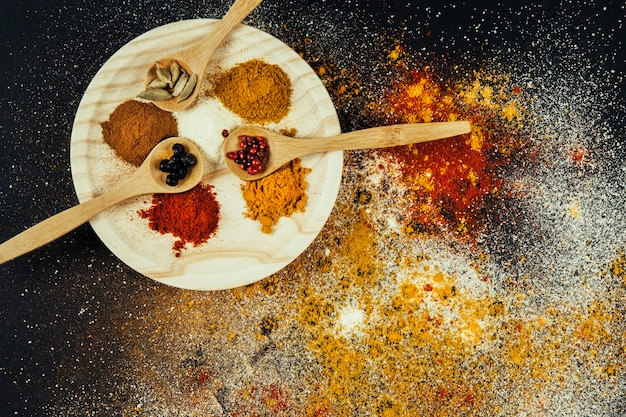 Spices on plate